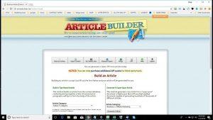 Article Builder - A content management system