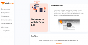 Article Forge overview, pricing, manuals, reviews, and feature reviews
