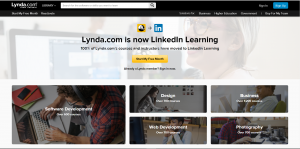 Lynda Learning (Linkedin Learning) is the leading online course in the US.